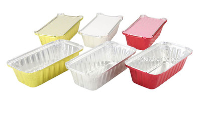 disposable aluminum foil 1½ lb. loaf pan, baking pan, carryout pan, takeout pan, food container with board lid