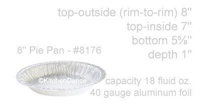 """disposable aluminum foil 8"""" quilted waffle bottom pie pan, baking pan"""