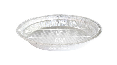 "disposable aluminum foil 9"" quilted waffle bottom pie pan, baking pan"
