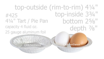 "disposable aluminum foil 4¼"" tart pan, mini pie pan, pie tin - individual serving size"