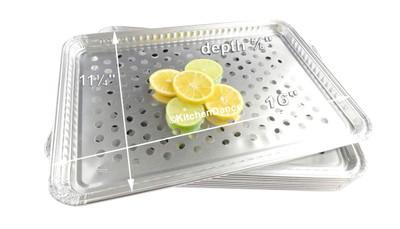 disposable aluminum foil BBQ grill topper