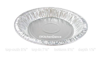 "disposable aluminum foil 8"" round baking pan, deep pie pan"