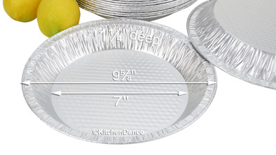"disposable aluminum foil 10"" pie pan, baking pan"