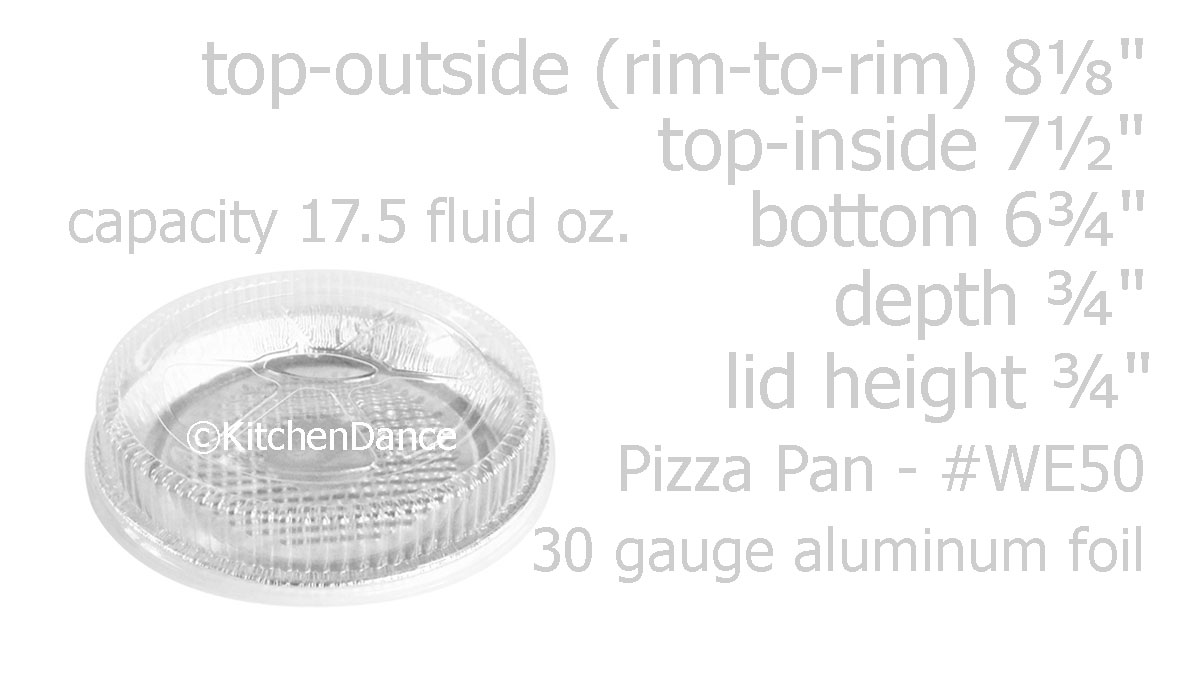 Disposable Aluminum 7 Individual Pizza Pans By D /& W Fine Pack #WE50 D /& W Finepack 25