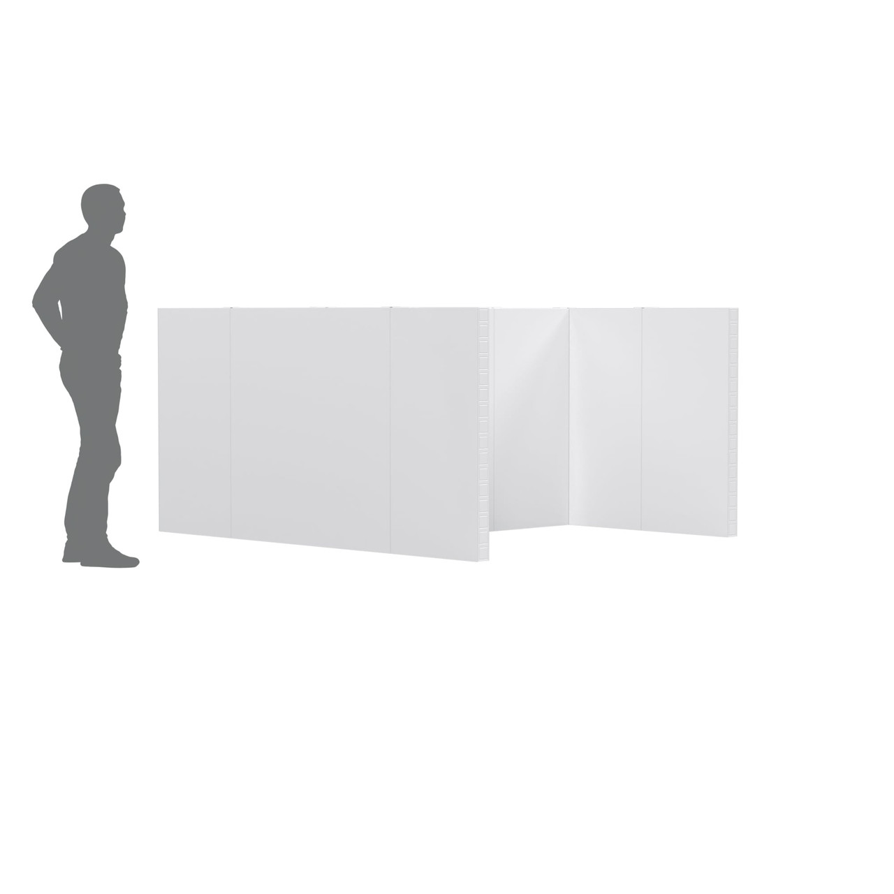 The EverPanel Office Cubicle Kit is perfect for offices because you can easily reconfigure as needed.