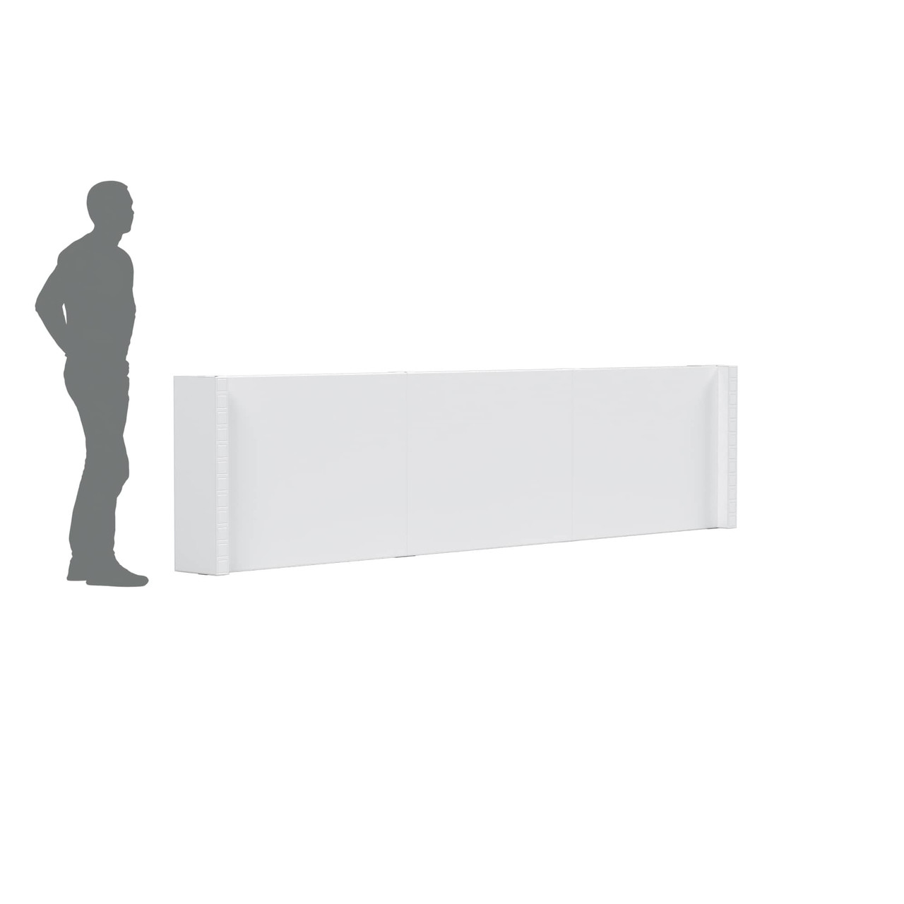 The EverPanel Pony Wall Kit is a great solution for controlling the flow of pedestrian traffic.