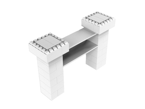 Simple Cantilevered Catering Station Kit