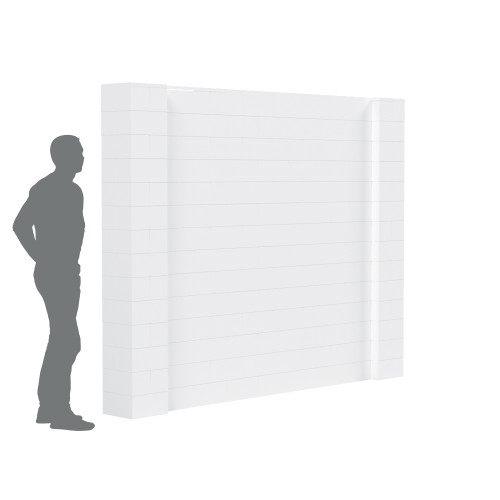 The EverBlock Simple Wall Kit has can be built and reconfigured to your needs!