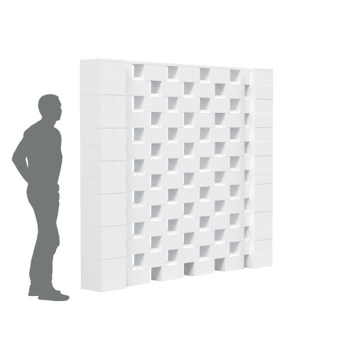 The EverBlock Stagger Wall Kit is a modern and unique design that allows you to see through small open areas within the wall.