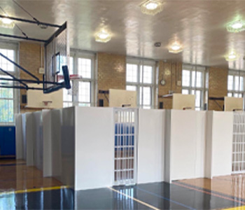 Convert gyms into private areas for students and faculty.