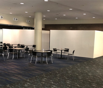 Use EverPanels to divide large spaces into smaller private areas.