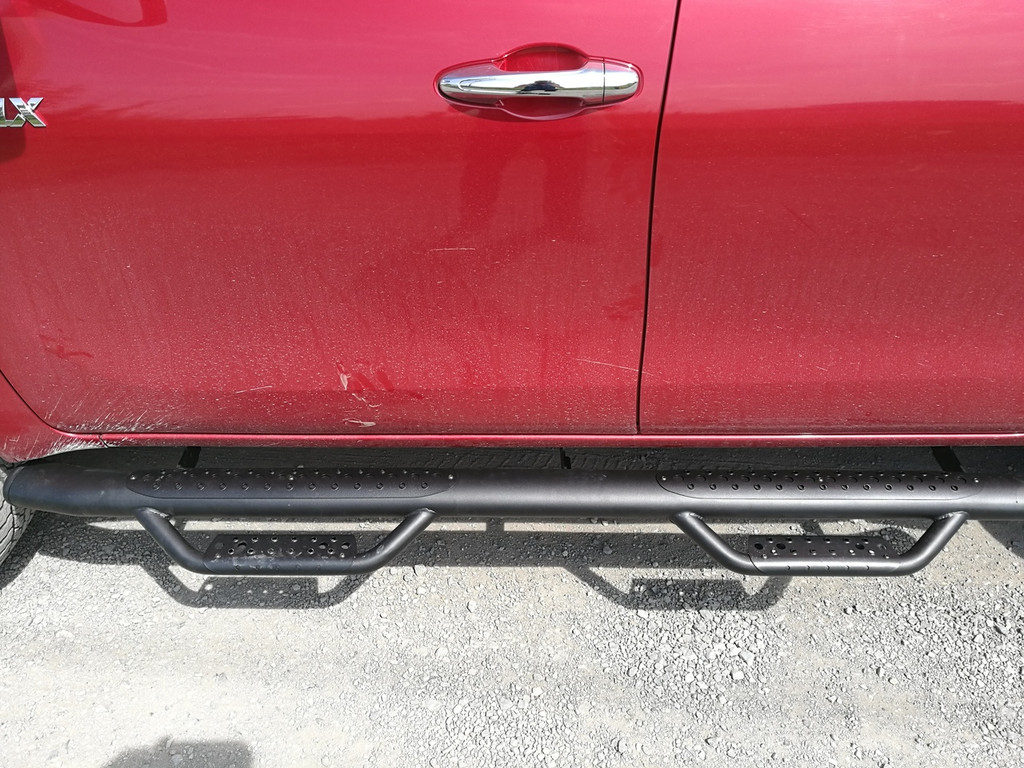 Black HD Running Boards / Side Bars For Volkswagen Amarok 2010-2019