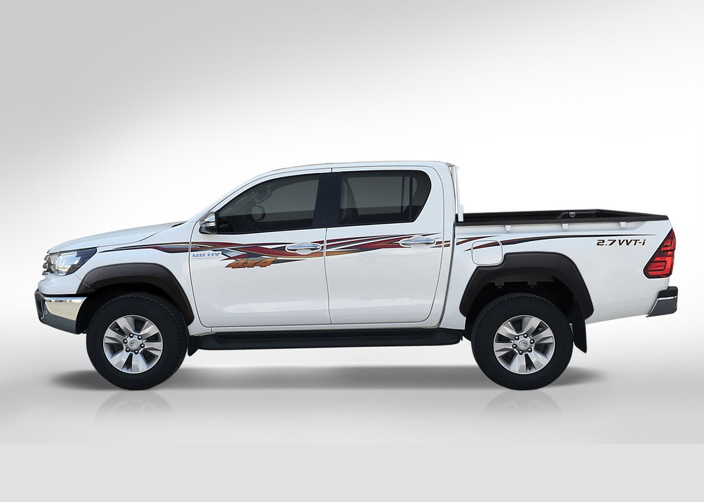 Textured Fender Flares For Toyota HiLux Double Cab Ute 2015-2019
