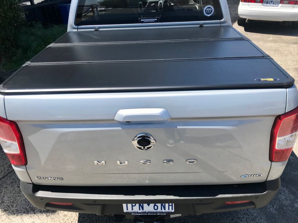 Tri-Fold Hard Lid Tonneau Cover for SsangYong Musso 2018+