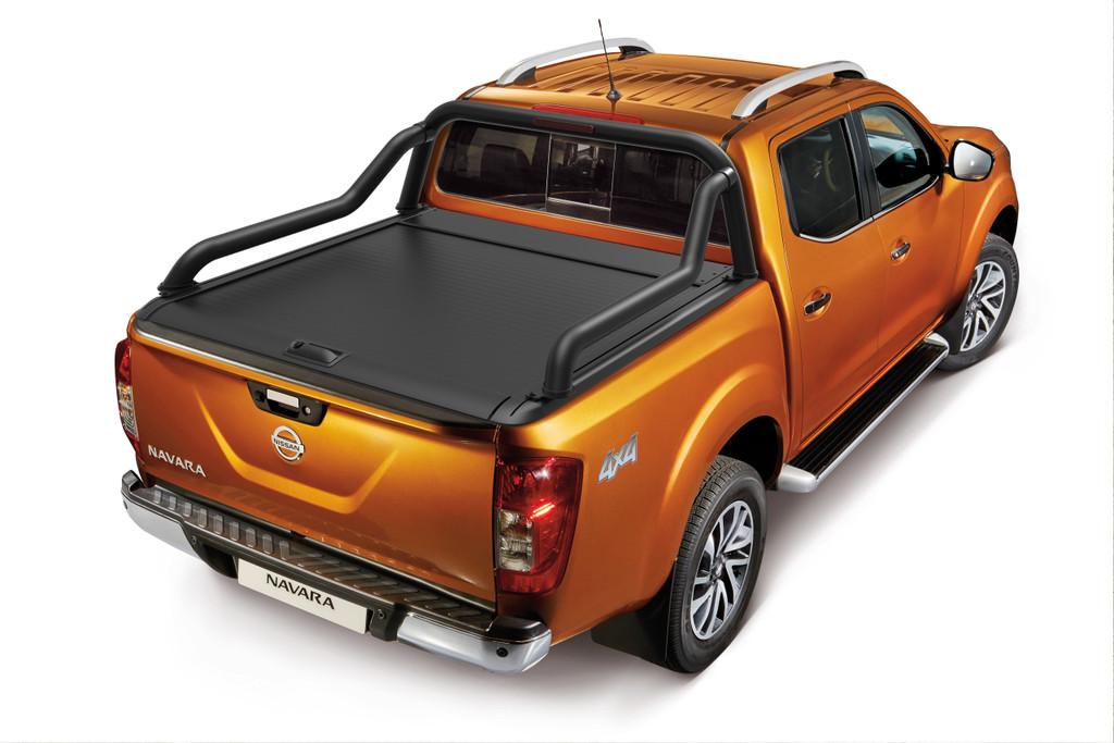 Gen2 Black Roller Lid Shutter For Nissan Navara NP300 D23 2015-2021