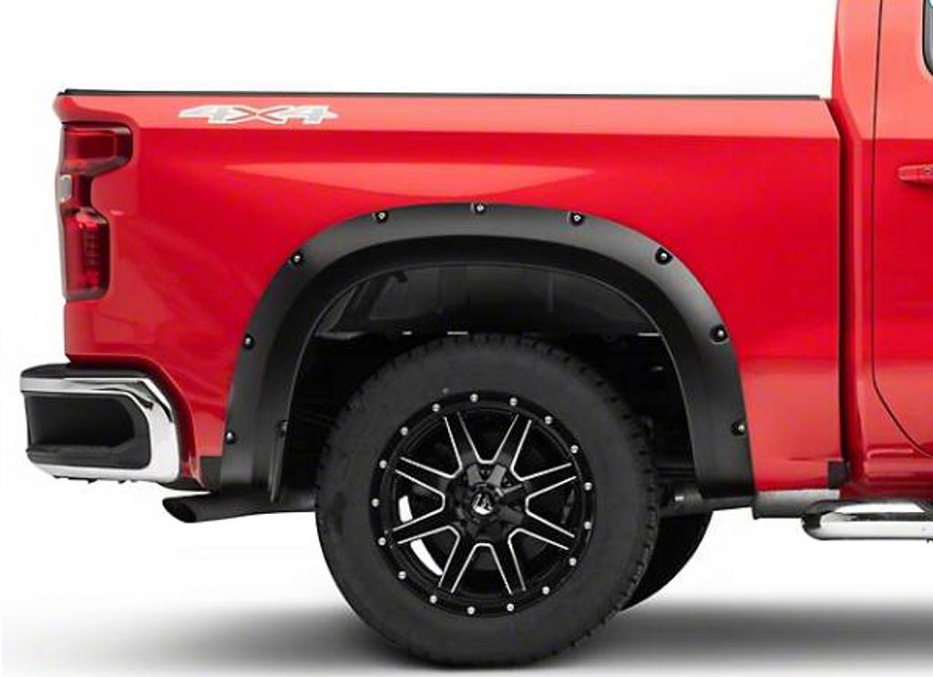 Textured Fender Flares For Chevrolet Silverado 1500 2019-2021