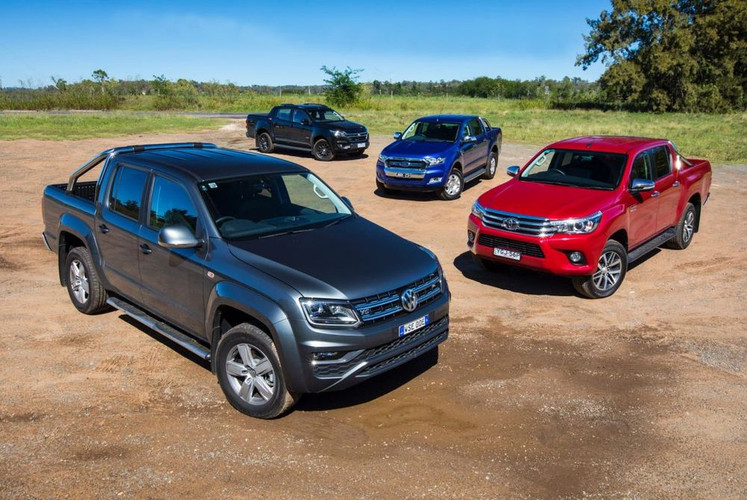 Volkswagen Amarok V6 vs Ford Ranger XLT vs Toyota HiLux SR5 vs Holden Colorado Z71 comparison review