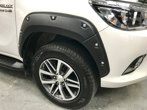 Textured Fender Flares For Toyota Hilux Double Cab 2015-2020