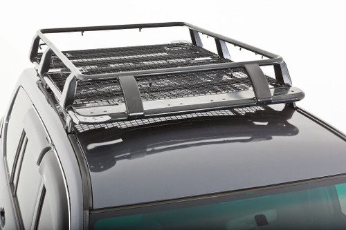 Universal Gutter Steel Wire Mesh Basket Roof Rack Black 1.6m