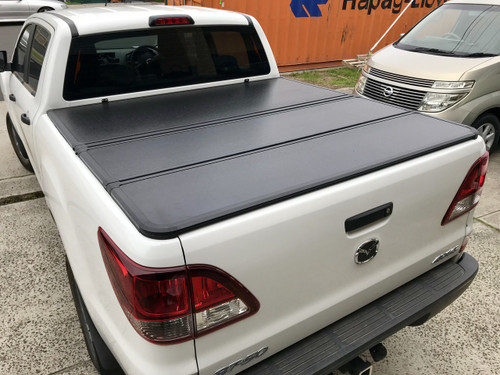 Tri-Fold Hard Lid Tonneau Cover for Mazda BT-50 2012-2020