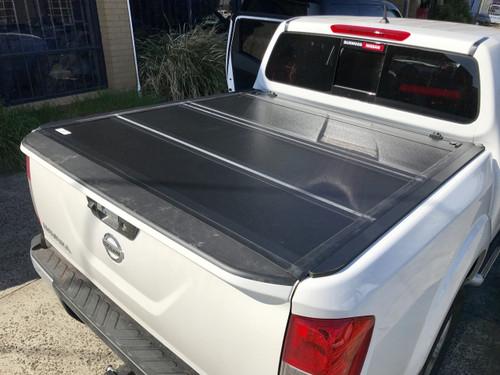 Quad-Fold Hard Lid Tonneau Cover for Nissan Navara NP300 D23 2015-2020