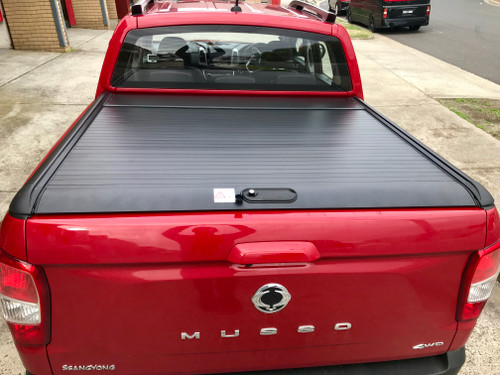 Black Roller Lid Shutter For SsangYong Musso (Short Tub) 2018+