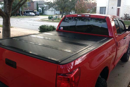 Quad-Fold Hard Lid Tonneau Cover for Ford F-150 2015-2019 6,5' BED