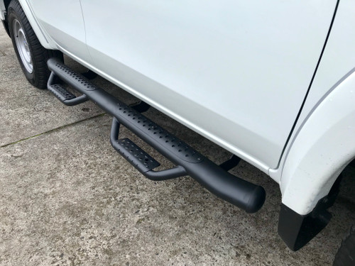 Black HD Running Boards / Side Bars For Mitsubishi Triton MR 2019+