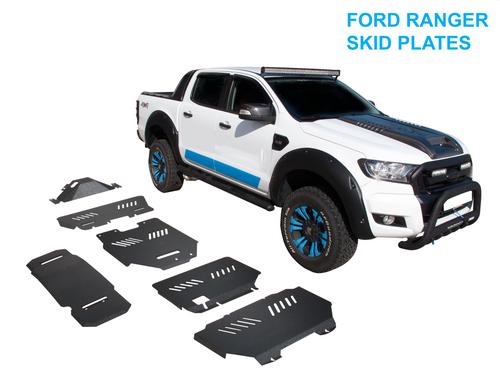 6pcs Black Steel Bash Plates For FORD RANGER 2012-2021
