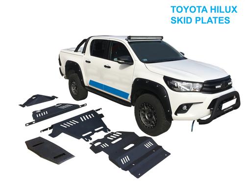5pcs Black Steel Bash Skid Plates For Toyota Hilux 2015-2021
