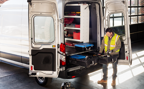 INTRODUCING THE DECKED DRAWER STORAGE SOLUTION FOR VANS