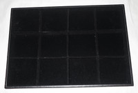Black Velvet Pressboard Divided Tray - 12 Sections to Store Decants and Samples
