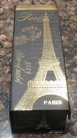 Pressboard Box for Storing Decants - Paris/Eiffel Tower Design in Black and Gold