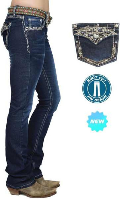 Pure Western Women's Taylor Boot Cut Bling Jeans
