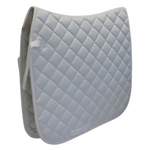 White Competition Saddle Cloths