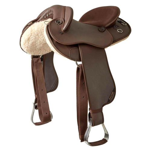 Syd Hill Synthetic Half Breed Saddle Brown FREE SHIPPING AND GIRTH DEAL