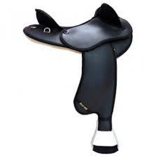 Syd Hill Synthetic Half Breed Saddle Black FREE SHIPPING AND GIRTH DEAL