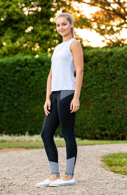 Bare Equestrian  Performance Tights Houndstooth