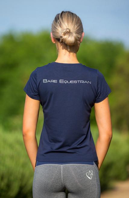 Bare Equestrian Logo Tshirt - Navy