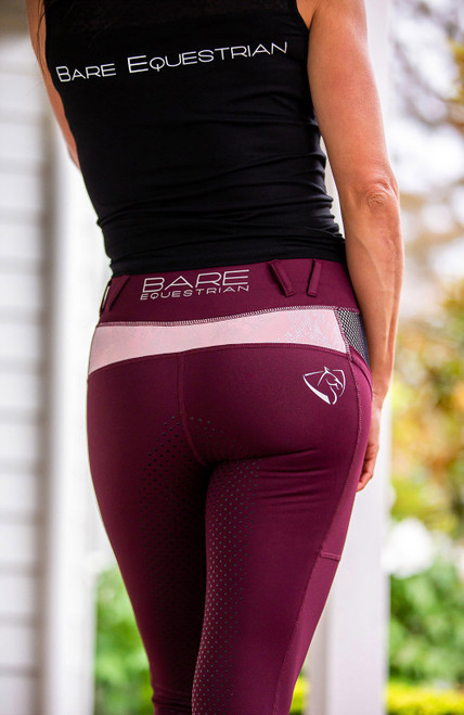 Bare Equestrian  Performance Tights Ruby Rose