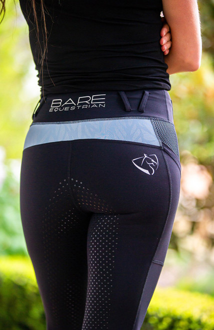 Bare Equestrian Performance Tights Ice Blue