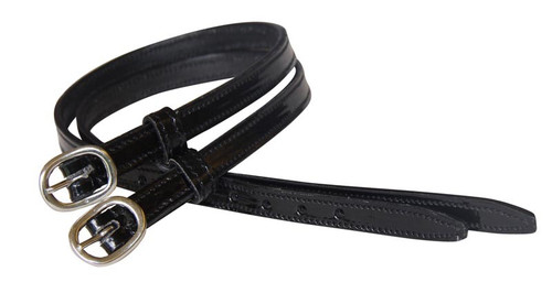 Stitched Patent Leather Spur Straps