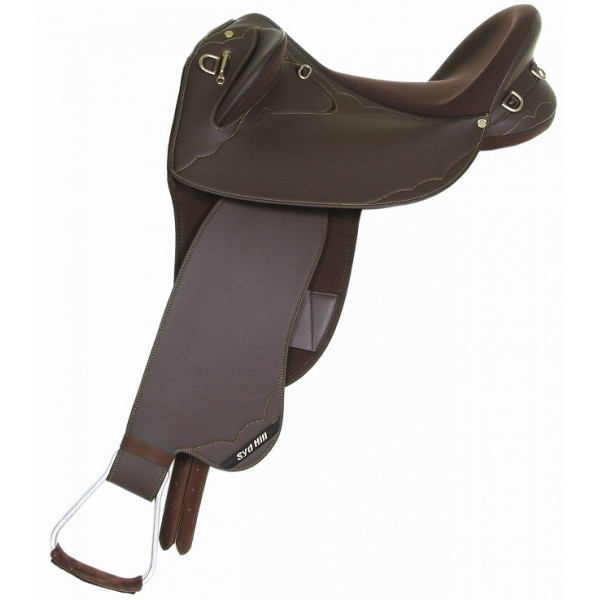 Syd Hill Synthetic Stock Swinging Fender Saddle FREE SHIPPING AND GIRTH DEAL
