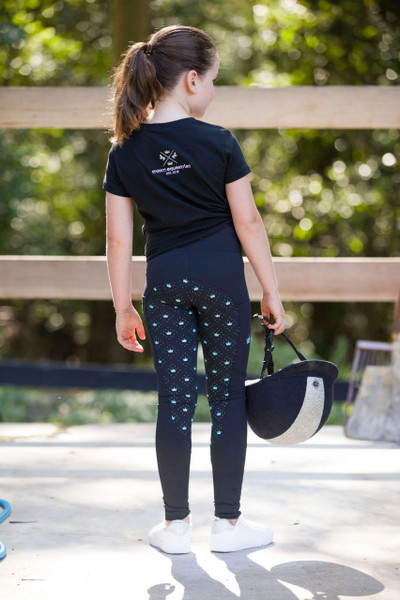 Crown Equestrian Pop of Colour Kids Tights