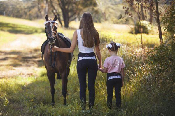 Crown Equestrian Pastel Floral Riding Tights Ladies