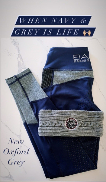 Bare Equestrian Performance Tights Oxford Grey