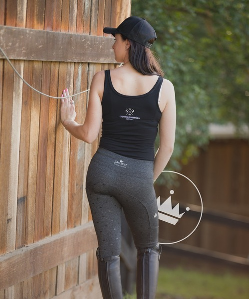 Crown Equestrian Grey Luxe Edition Tights  CLEARANCE