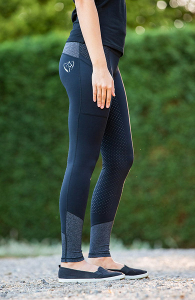 Bare Equestrian Performance Tights Dark and Stormy