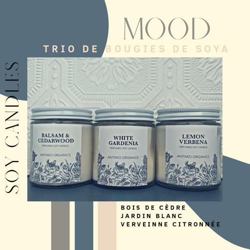 ANITAKO Organics Perfumed Vegan Soy Candle Trio