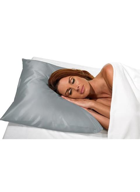 Slate Grey Satin Pillowcase